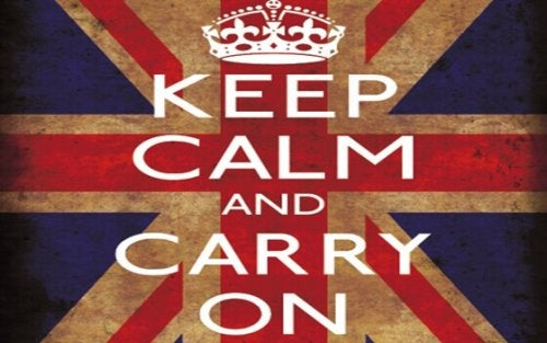 Immagine di mantenere la calma e procedere