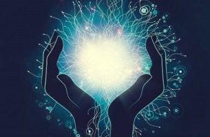 Mani che tengono dell'energia, come simbolo della PNL per cambiare la propria vita