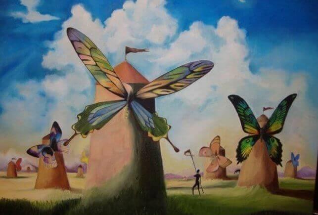 Mulini con ali di farfalla
