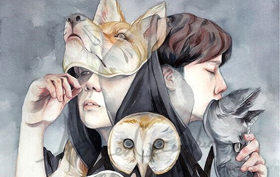 Falsi amici con maschere da animali