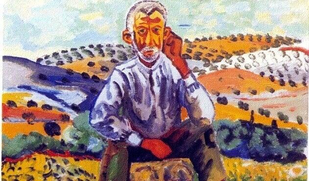 Raffigurazione uomo in mezzo al campo