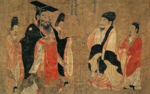 Antica illustrazione cinese