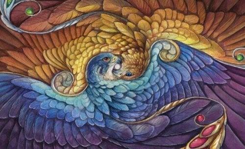 Immagine di un'aquila che rappresenta la saggezza tolteca