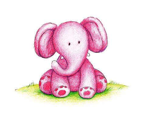 Elefante rosa piccolo