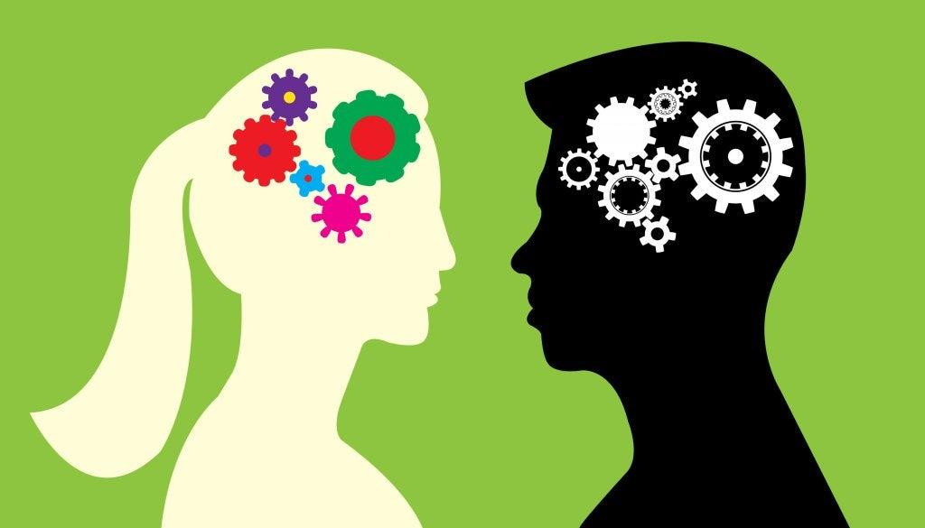 Ingranaggi del cervello femminile e maschile