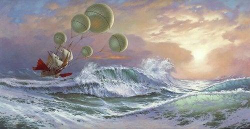 Nave in tempesta