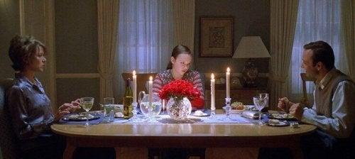 Scena dal film American Beauty