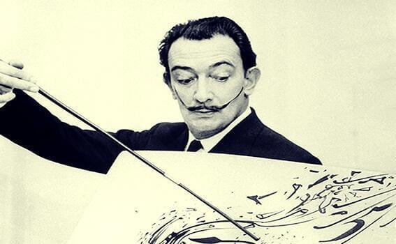 Dalí che dipinge