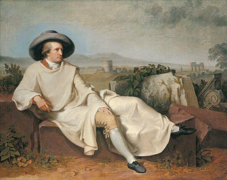 Goethe nella campagna romana-Wilhelm Tischbein