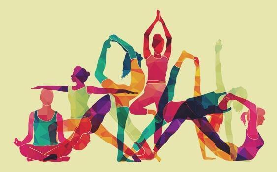 Gruppo fa yoga
