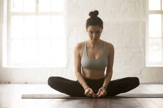 Yoga posizione del calzolaio