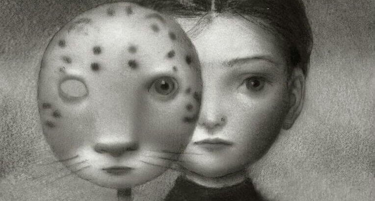 Bambina con maschera felina