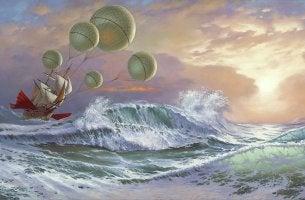 Barca che naviga nel mare