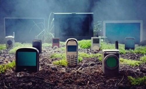 Cimitero di cellulari
