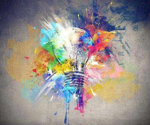 Creatività-quadro con lampadina