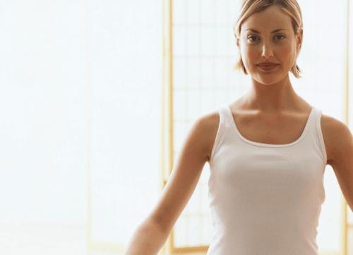 Una donna che fa esercizo