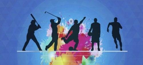 Sagome che praticano sport