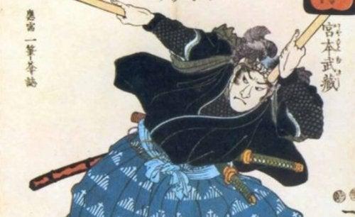 Illustrazione di un samurai