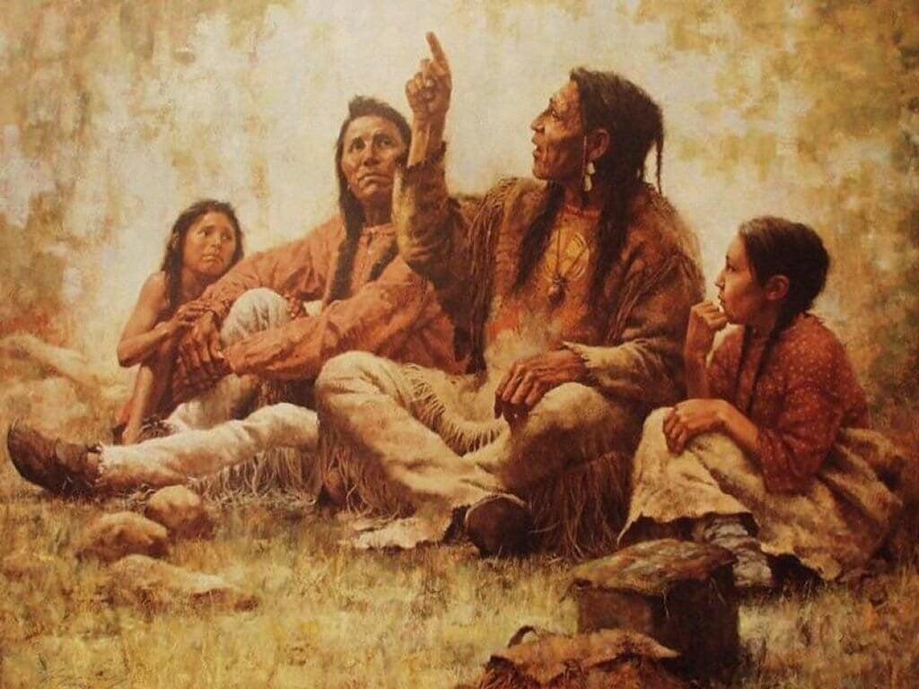 Indiani nativi riuniti