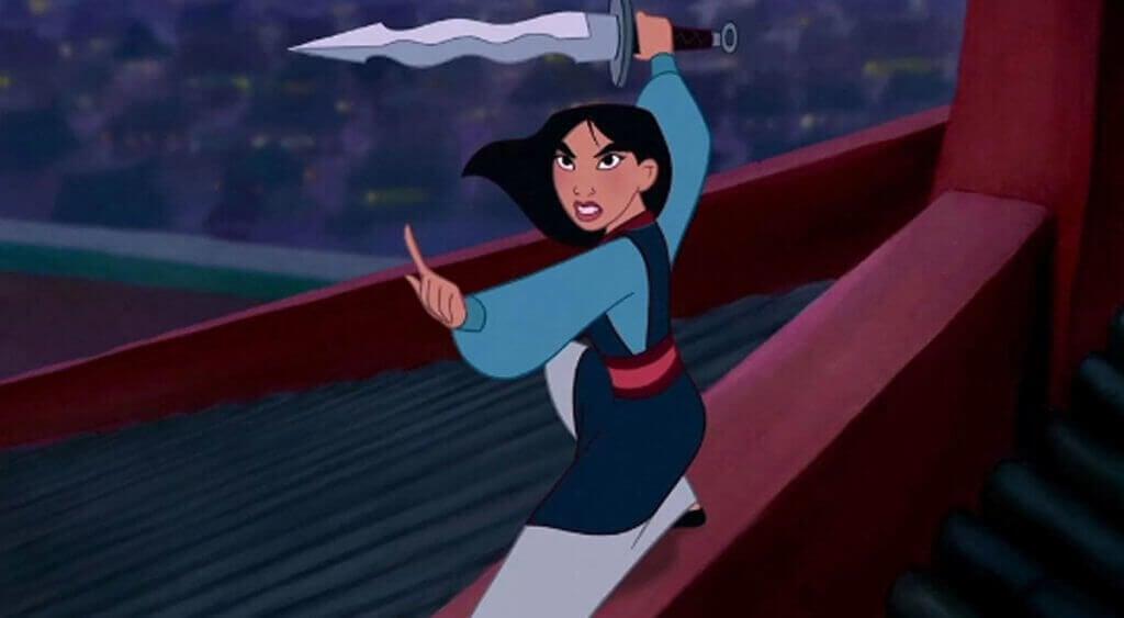 Mulan che combatte