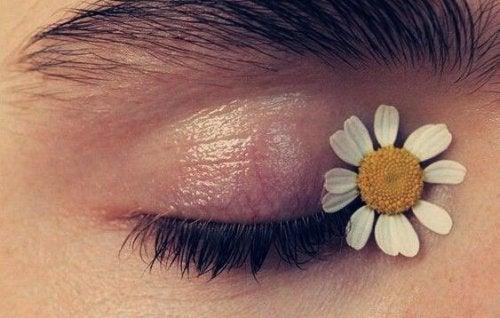Occhio con margherita