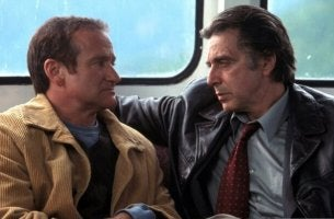 "Robin Williams e Al Pacino nel film ""Insomnia"""