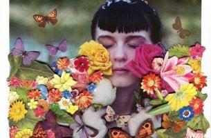 ragazza con fiori tutte le emozioni