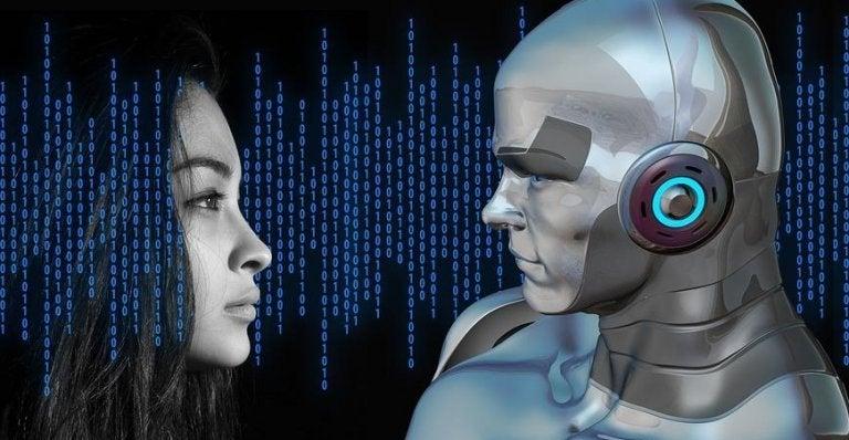 Donna e robot