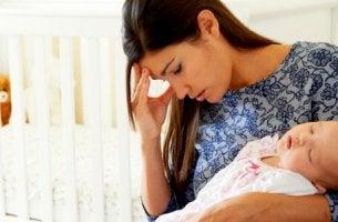 Una madre che si sente male