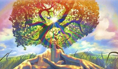 Uomo sotto un albero, simbolo del karma e della coscienza