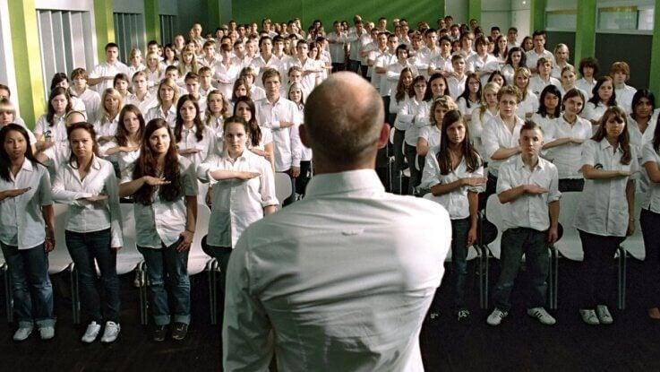Oratore davanti a un vasto pubblico