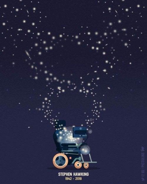 Sedia di Hawking nell'universo