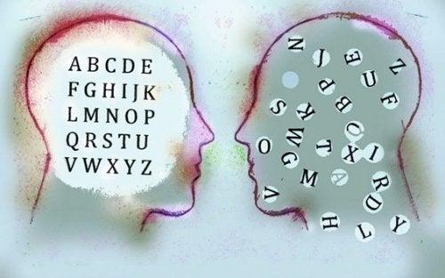Teste con dentro delle lettere analfabetismo emotivo