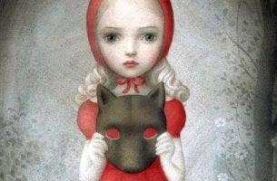 Cappuccetto rosso con maschera da lupo peggior nemico