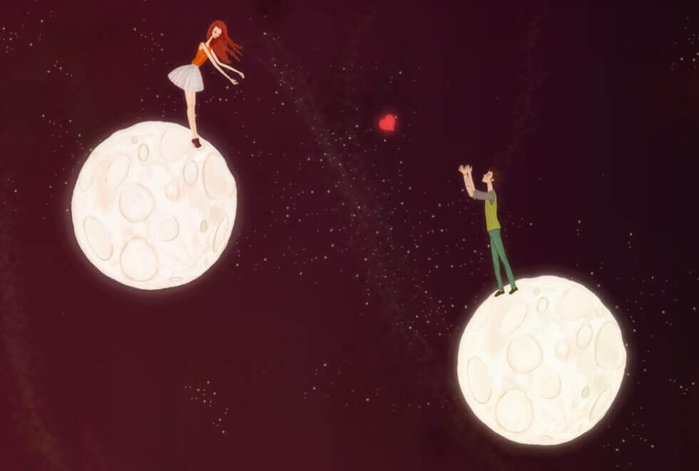 Coppia su pianeti diversi