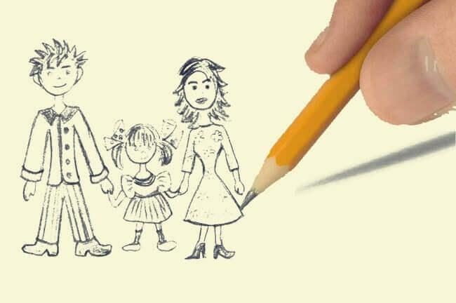 Test Del Disegno Della Famiglia Interessante Tecnica