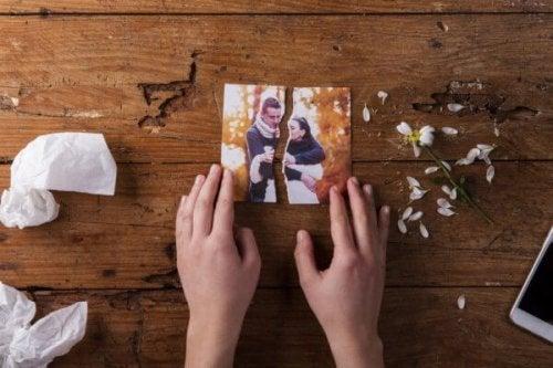 Foto strappata di una coppia