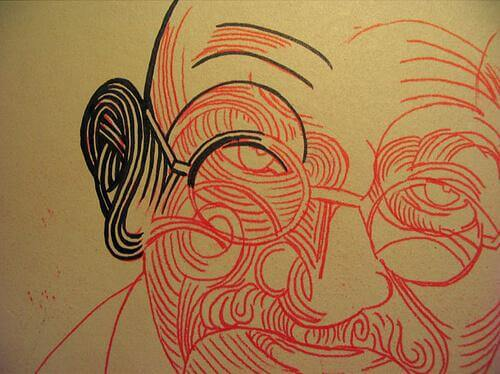 Ghandi disegno