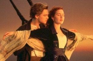 Jack e Rose sul Titanic