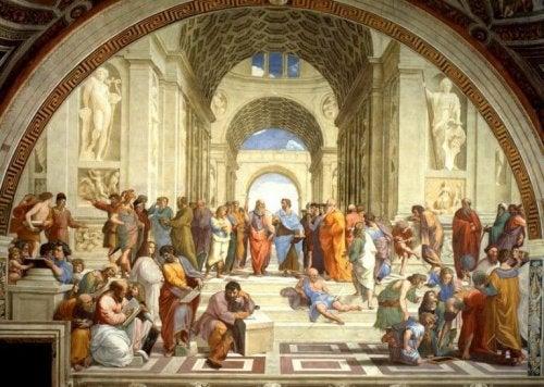 Dipinto che rappresenta Seneca e il suo rapporto con l'ansia