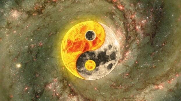 Luna e sole yin e yang
