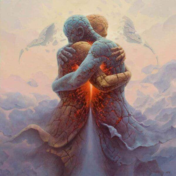 Corpi che si abbracciano
