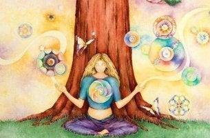 Dona colori e natura sistema immunitario emotivo