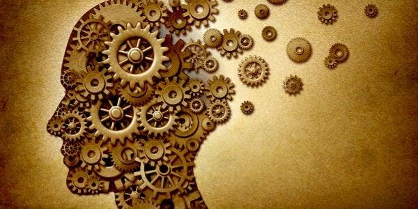Mente con ingranaggi della memoria