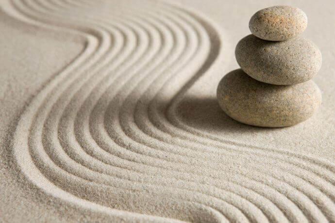 Sabbia e ciottoli zen