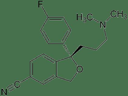 Formula chimica escitalopram