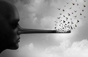 Pinocchio con uccelli post-verità