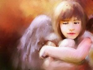 Bambina angelo