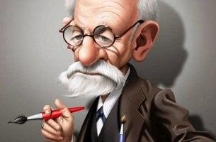 Freud caricatura