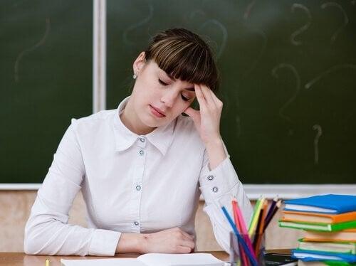 Professoressa stanca